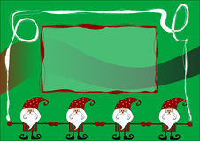 Santa claus card. With green background Stock Photography