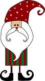 Santa claus card. With white background Royalty Free Stock Photos
