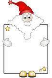 Santa claus with card Royalty Free Stock Images