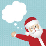 Santa Claus card. Christmas or new year card with Santa claus and a speech bubble stock illustration