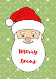 Santa Claus Card-02 Royalty Free Stock Images
