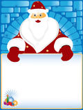 Santa Claus and card for the text Royalty Free Stock Images
