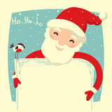Santa Claus card for text vector Royalty Free Stock Photography