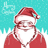 Santa Claus card with text.Vector Stock Images