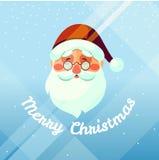 Santa claus card. Vector Christmas background illustration of funny cartoon santa claus Royalty Free Stock Images