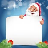 Santa claus card white Stock Image