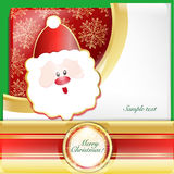Santa Claus cards. Writing Christmas cards with Santa Claus Santa Claus wallpaper Stock Image