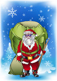 Santa claus cargo. Santa Claus is going to bring a large quantity of gifts for Christmas royalty free illustration