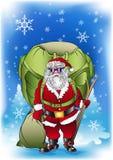 Santa claus cargo Stock Images