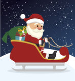 santa claus in carriage  isolated icon design Stock Images