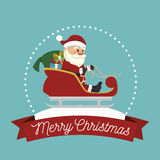santa claus in carriage isolated icon design Stock Photography