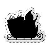 Santa claus carriage isolated icon Stock Images