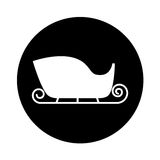 Santa claus carriage isolated icon Royalty Free Stock Image