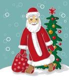 Santa Claus carries bag Stock Image