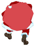 Santa Claus carries big bag with gifts. Back view Stock Photo