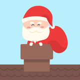 Santa claus carry bag of gift,present Royalty Free Stock Photography