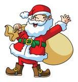 Santa Claus Carrying The Gift Lizenzfreie Stockfotografie