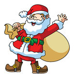 Santa Claus Carrying The Gift Royalty Free Stock Photography