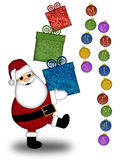 Santa Claus Carrying Presents Merry Christmas Stock Photos