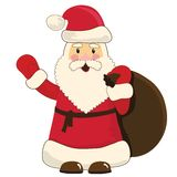 Santa Claus cartoon Stock Photography