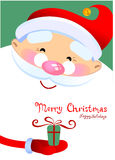 Santa Claus Cartoon Fotografia Stock