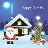 Santa Claus Cartoon Lizenzfreies Stockbild