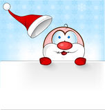 Santa claus cartoon with banner Stock Photos