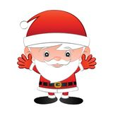 Santa Claus cartoon big head cute version,raise hand and smile Stock Images