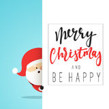 Santa Claus Cartoon character for Christmas cards and banners Royalty Free Stock Image
