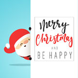 Santa Claus Cartoon character for Christmas cards and banners. Stock Image