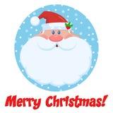 Santa Claus Cartoon Character Face Portrait vektor illustrationer