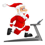 Santa Claus. Cartoon Character Santa Claus Isolated on Grey Gradient Background. Gym. Vector EPS 10 stock illustration