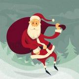 Santa Claus Cartoon Christmas Holiday Winter-Sneeuw Stock Afbeeldingen
