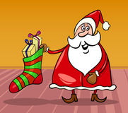 Santa claus cartoon christmas illustration Royalty Free Stock Image