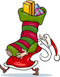 Santa claus cartoon christmas illustration Stock Images
