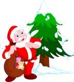 Santa claus cartoon Stock Image