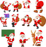 Santa claus cartoon collection Royalty Free Stock Images
