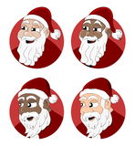Santa Claus cartoon collection Royalty Free Stock Photos
