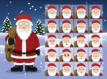 Santa Claus Cartoon Emotion faces Vector Illustration Royalty Free Stock Photo