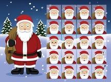 Santa Claus Cartoon Emotion hace frente al ejemplo del vector Foto de archivo libre de regalías