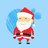 Santa Claus Cartoon Flat Christmas Holiday vektor illustrationer