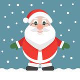 Santa Claus Cartoon flat design christmas holiday  illustration. Colorful  illustration. Stock Photography