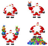 Santa Claus Cartoon, Gifts Royalty Free Stock Photography
