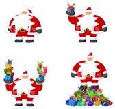 Santa Claus Cartoon, Gifts Royalty Free Stock Photography