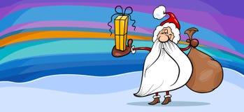 Santa claus cartoon greeting card Royalty Free Stock Photos