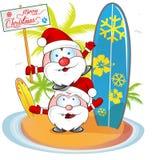 Santa claus cartoon Royalty Free Stock Images
