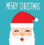 Santa Claus Cartoon Kawaii Card Photographie stock