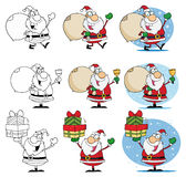 Santa claus cartoon mascot characters Royalty Free Stock Photography