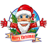 Santa claus cartoon Royalty Free Stock Photo