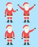 Santa Claus Cartoon Style Characters Sömlös blom- bakgrund stock illustrationer